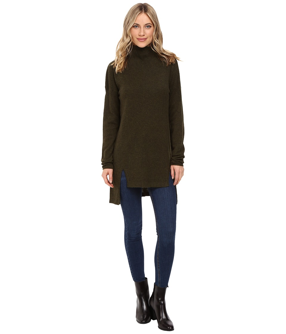 Christin Michaels - Madeline High-Low Turtleneck Cashmere Sweater (Garland) Women's Sweater
