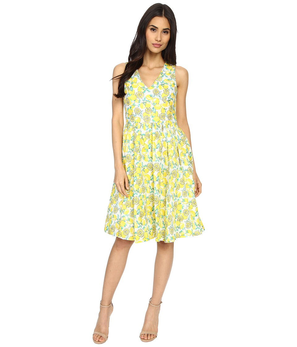 Brigitte Bailey - Lucy Lemon Printed Dress (Lemon) Women's Dress