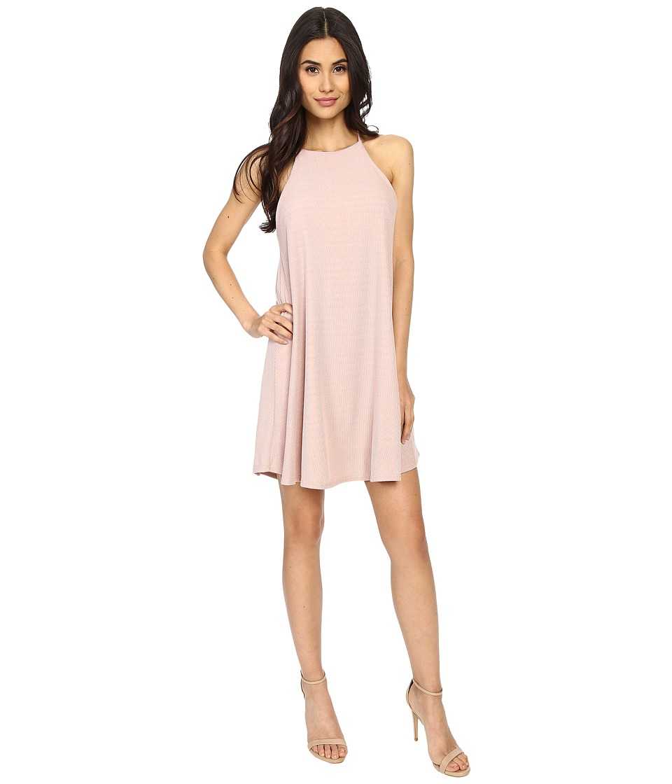 Culture Phit - Gwendolyn Spaghetti Strap Ribbed Dress (Pink) Women's Dress