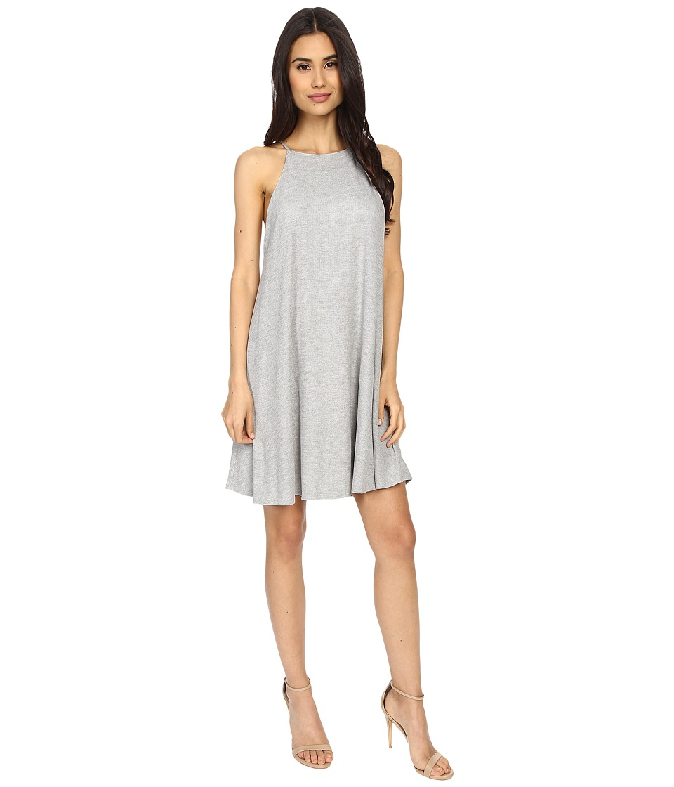 Culture Phit Gwendolyn Spaghetti Strap Ribbed Dress (Heather Grey) Women