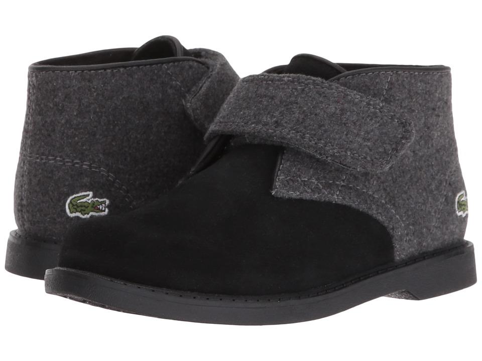 Lacoste Kids - Sherbrook 416 1 (Toddler/Little Kid) (Black/Dark Grey) Boy's Shoes