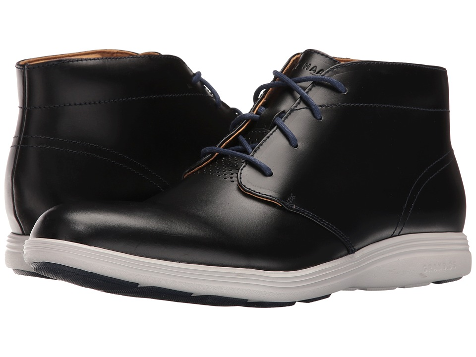 Cole Haan Grand Tour Chukka (Marine Blue Leather/Vapor Blue) Men