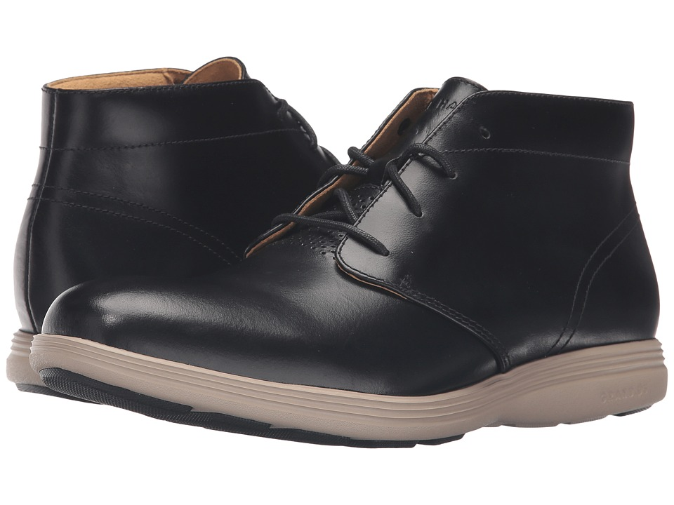 Cole Haan - Grand Tour Chukka (Black Leather/Cobblestone) Men's Boots
