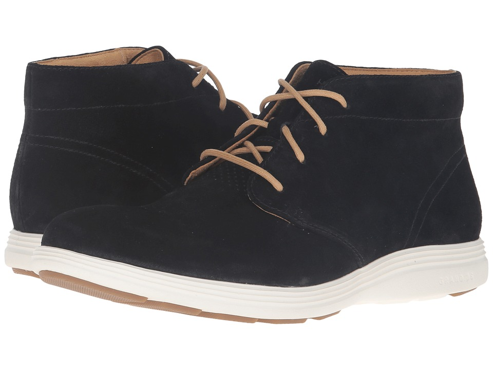Cole Haan - Grand Tour Chukka (Black Suede/Ivory) Men's Boots