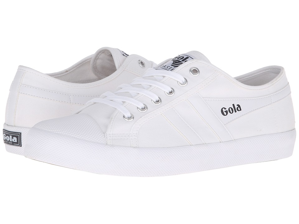 Gola - Coaster (White/White) Men's Lace up casual Shoes