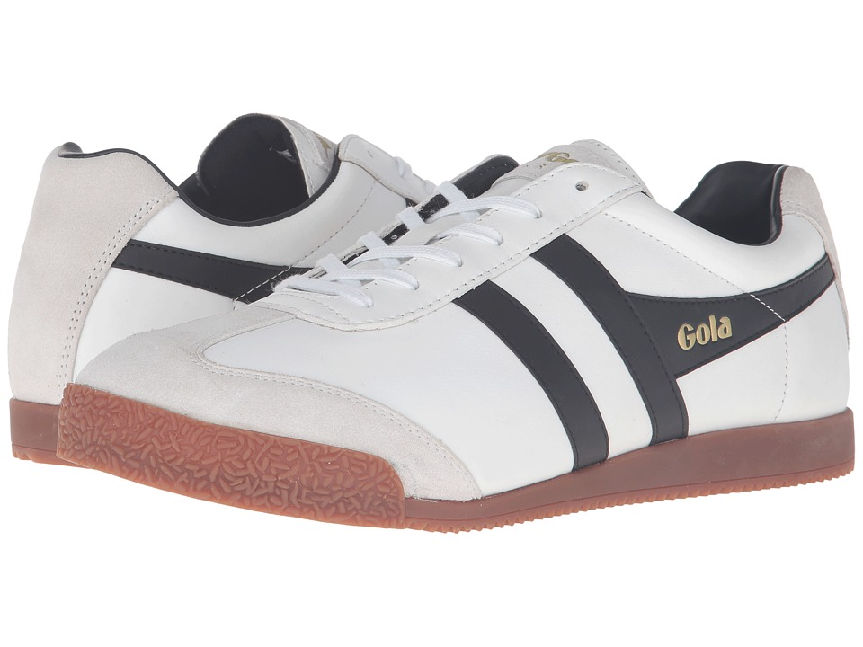 Gola - Harrier Leather (White/Black/Gum) Men's Shoes