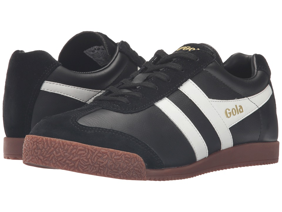 Gola - Harrier Leather (Black/White/Gum) Men's Shoes