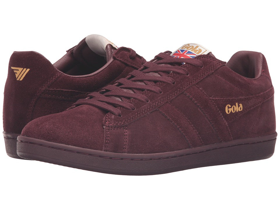 Gola - Equipe Suede (Burgundy/Burgundy) Men's Shoes