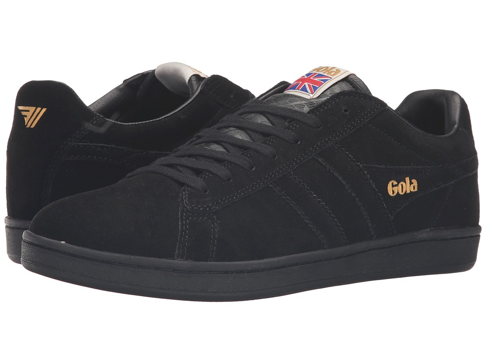 Gola - Equipe Suede (Black/Black) Men's Shoes