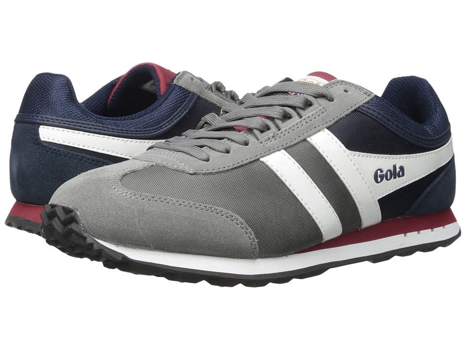 Gola - Boston (Grey/Navy/Burgundy) Men's Shoes