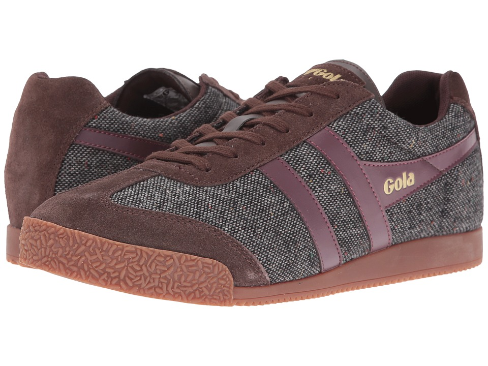 Gola - Harrier Woven (Dark Brown/Burgundy) Men's Shoes