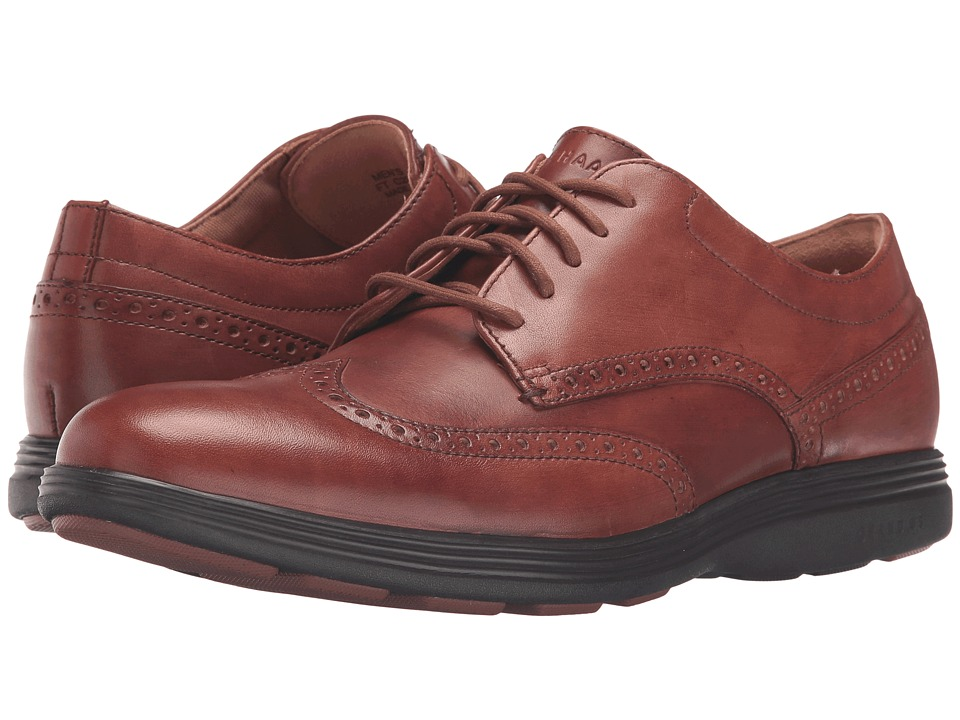 Cole Haan - Grand Tour Wing Oxford (Woodbury Leather/Java) Men's Lace up casual Shoes