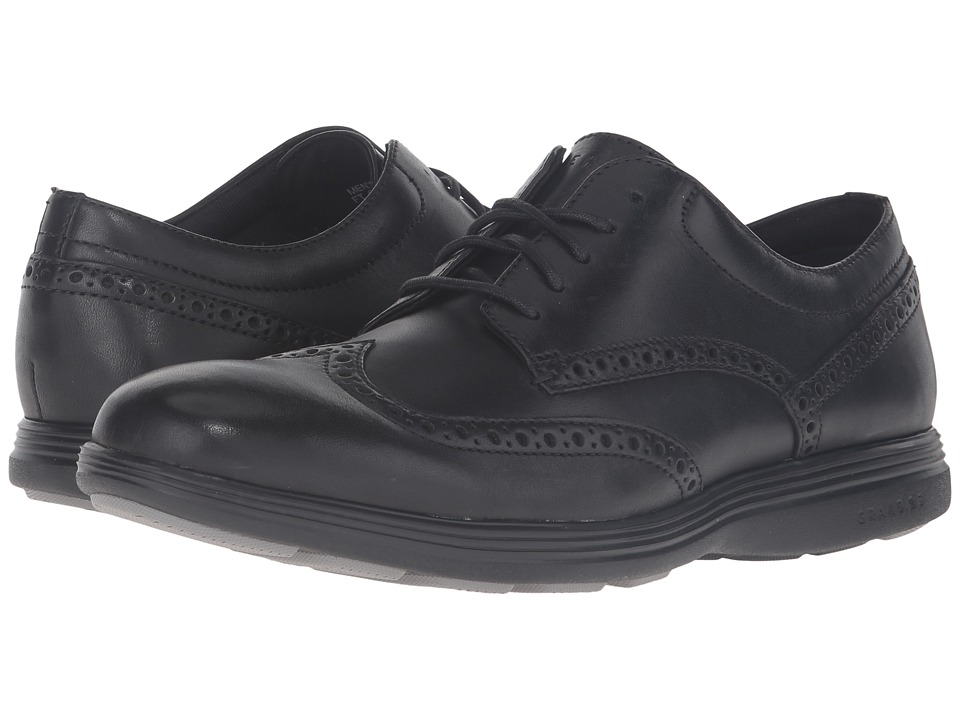 Cole Haan Grand Tour Wing Oxford (Black Leather/Black) Men