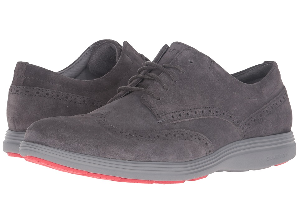 Cole Haan - Grand Tour Wing Oxford (Pavement Suede/Ironstone) Men's Lace up casual Shoes