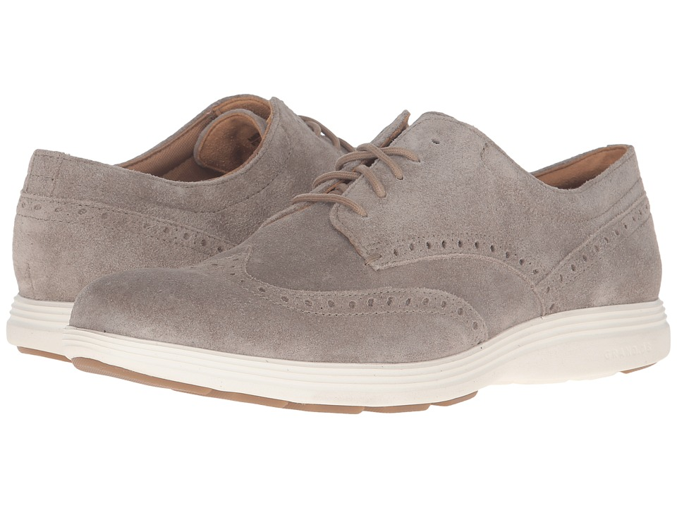 Cole Haan - Grand Tour Wing Oxford (Desert Taupe Suede/Ivory) Men's Lace up casual Shoes