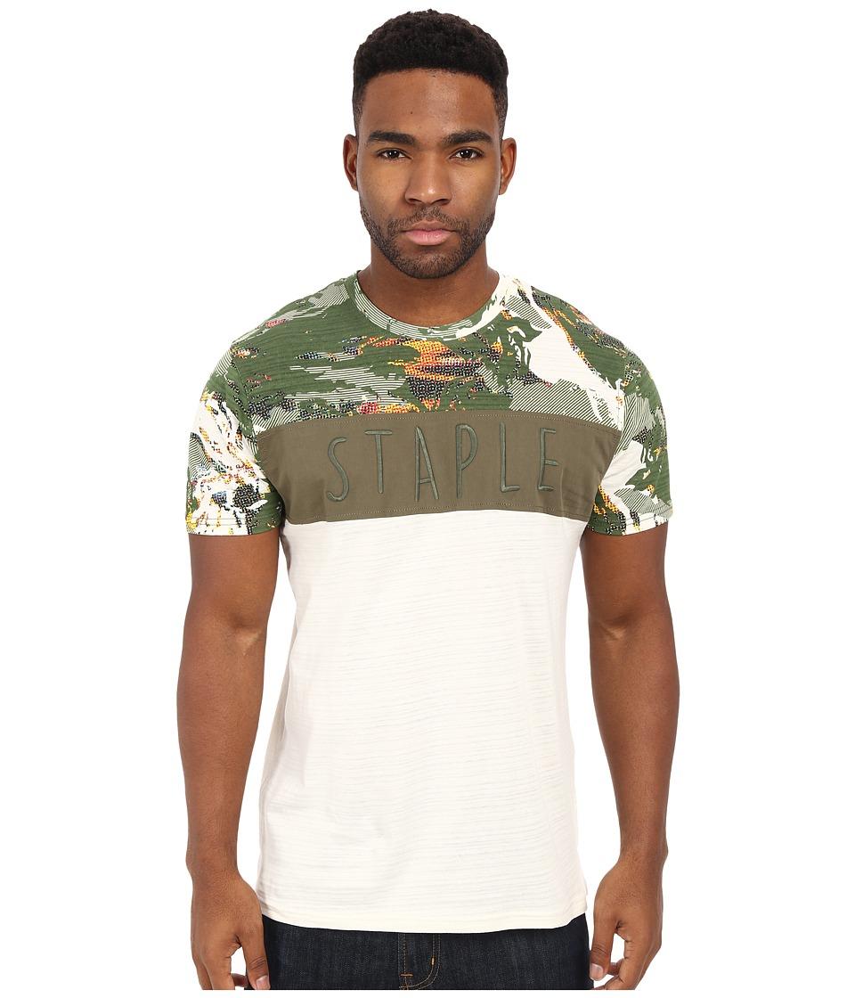 Staple - Military Pieced Tee (Vintage) Men's T Shirt plus size,  plus size fashion plus size appare