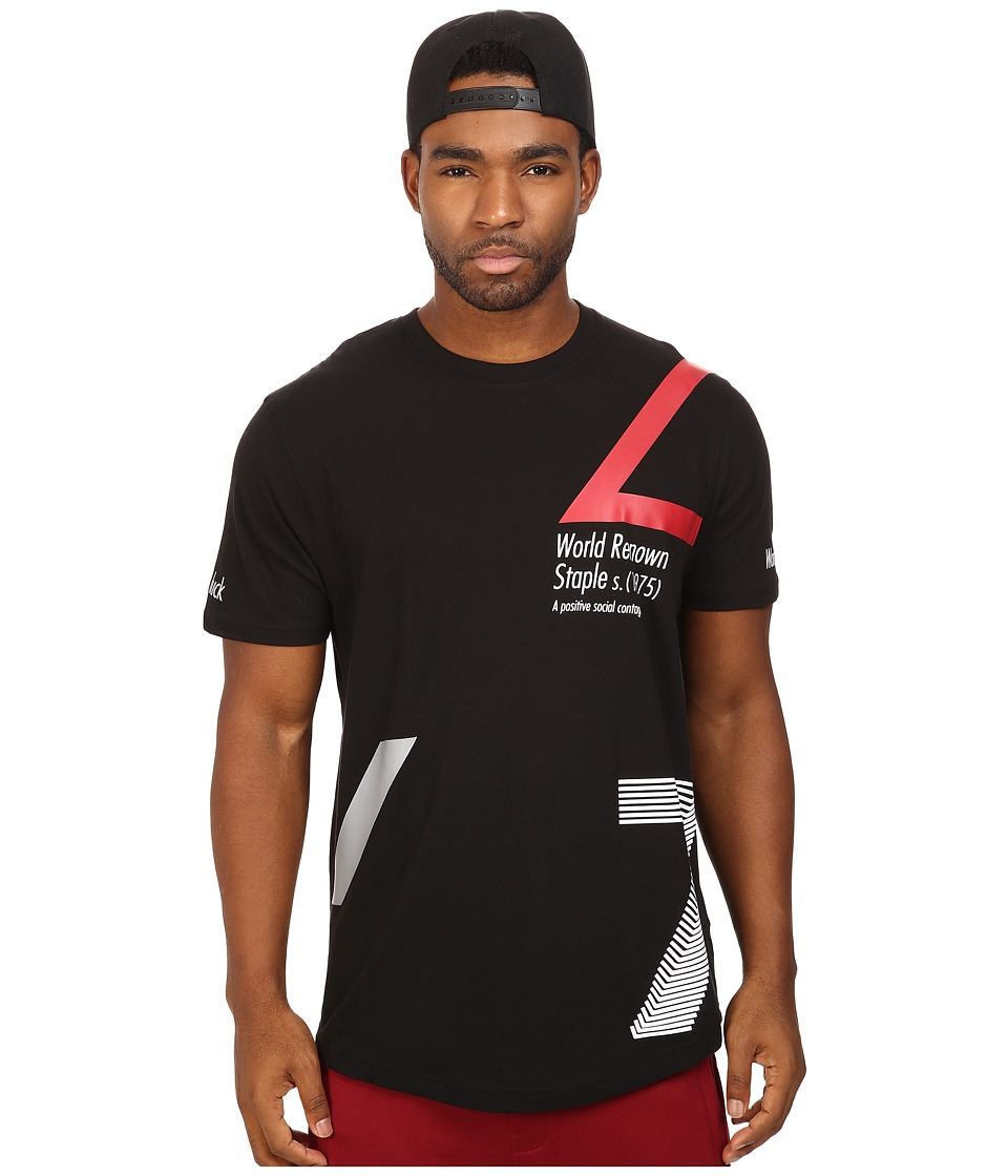 Staple - Contagion Scoop Tee (Black) Men's T Shirt