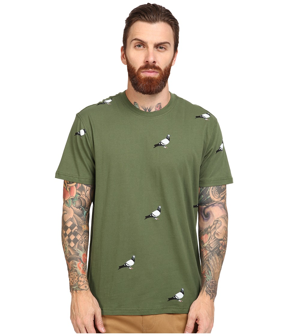 Staple - All Over Pigeon Tee (Olive) Men's T Shirt