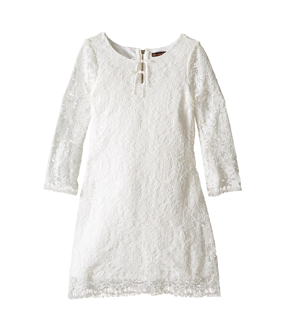 Ella Moss Girl - Terri A-Line Double Tie Dress (Big Kids) (Off-White) Girl's Dress