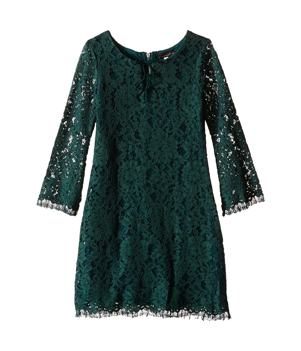 Ella Moss Girl - Terri A-Line Double Tie Dress (Big Kids) (Dark Green) Girl's Dress