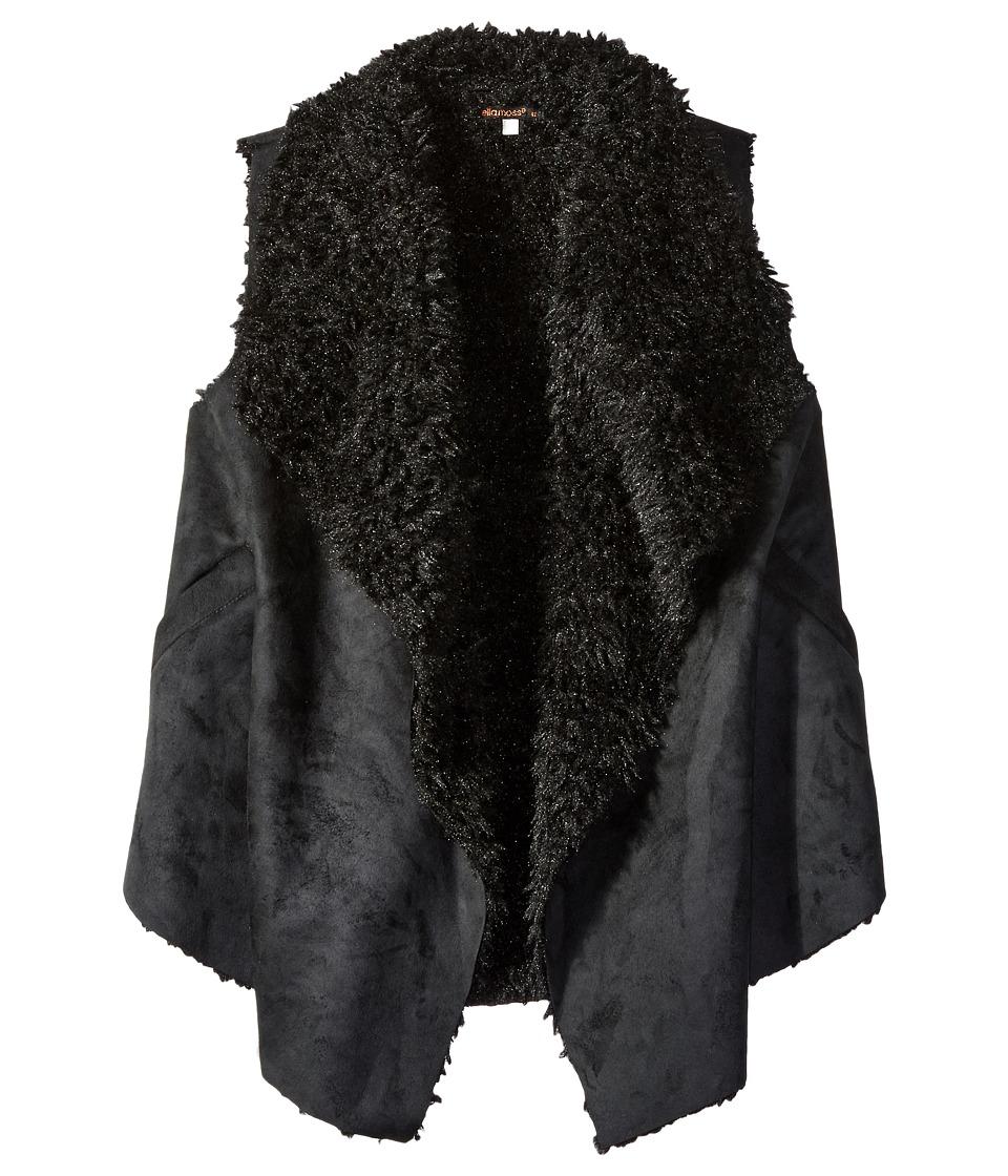 Ella Moss Girl - Cami Faux Suede Vest (Big Kids) (Black) Girl's Vest