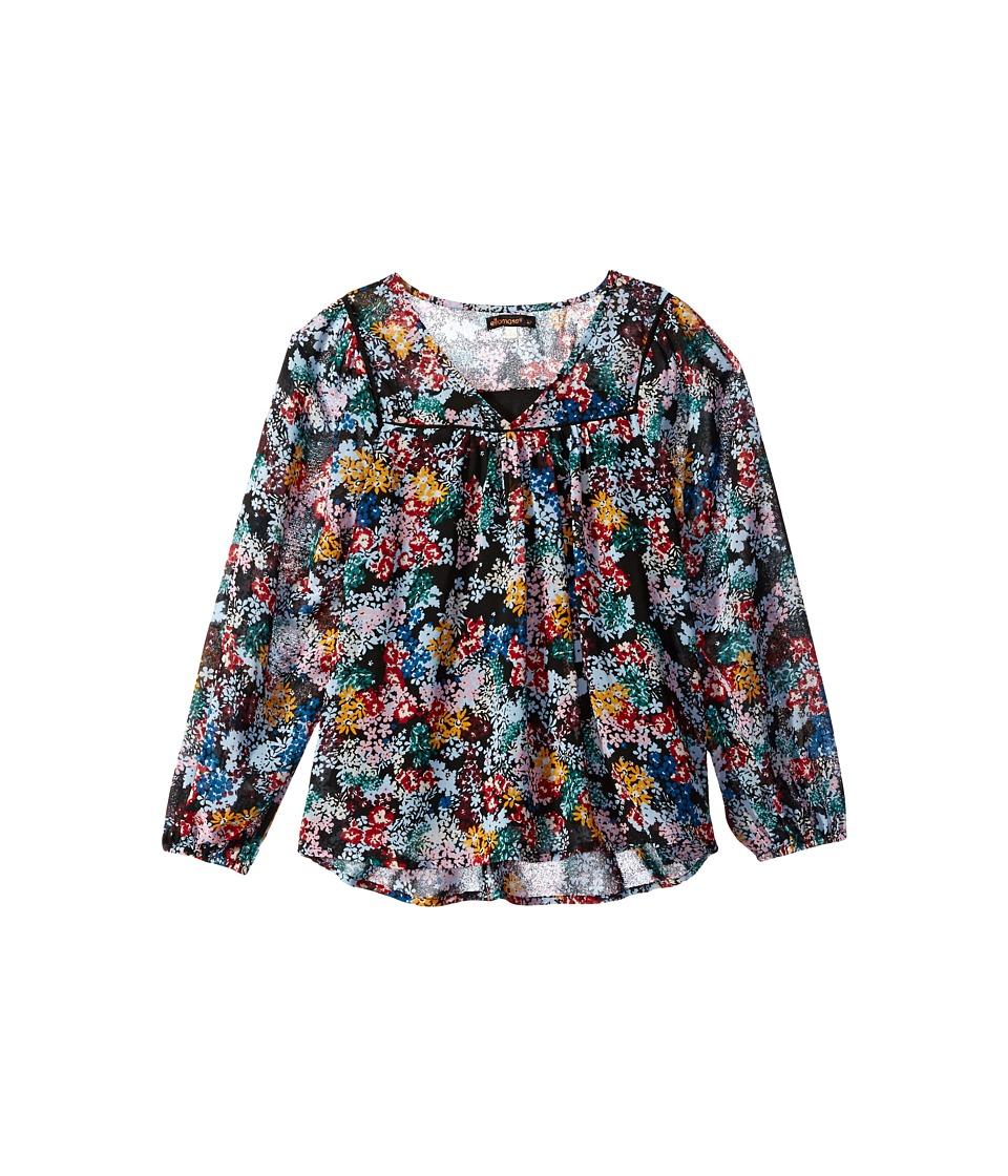 Ella Moss Girl - Flora Long Sleeve Peasant Top (Big Kids) (Print) Girl's Clothing