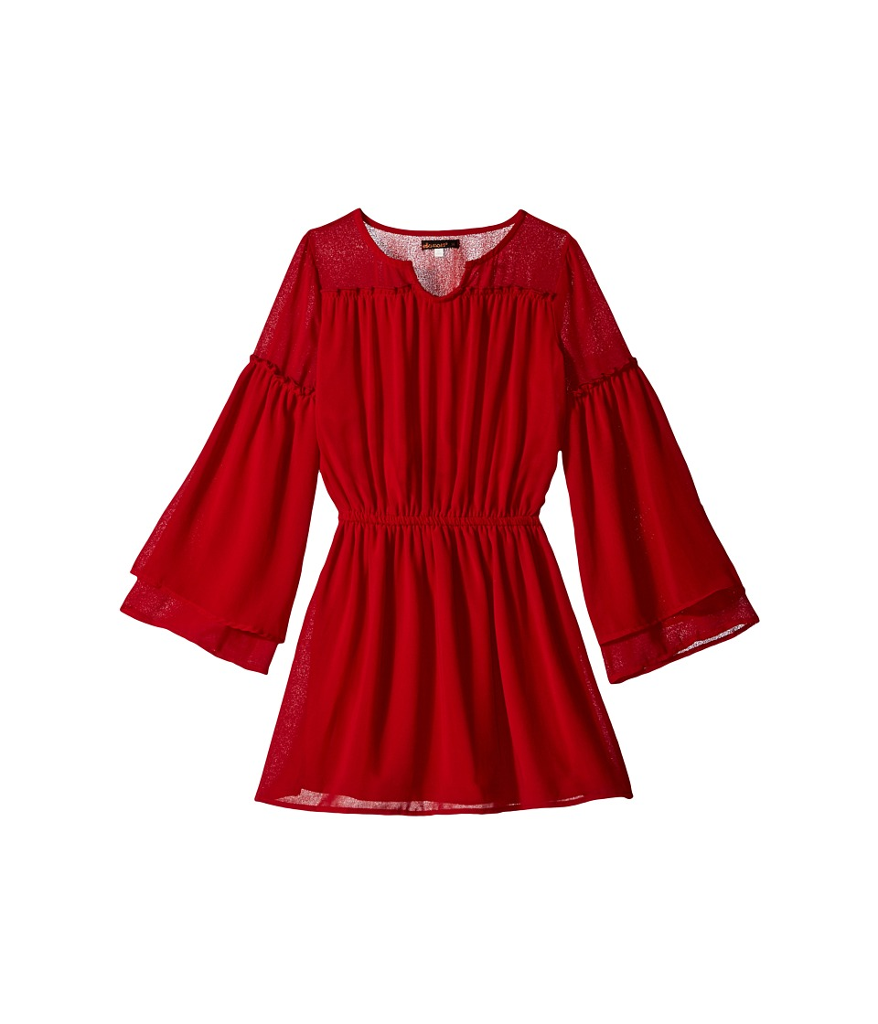 Ella Moss Girl - Alisa Elastic Waist Dress (Big Kids) (Dark Red) Girl's Dress