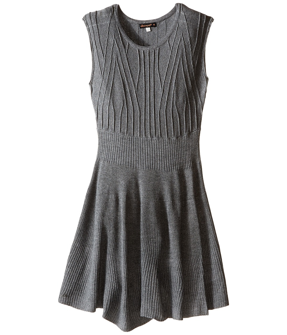 Ella Moss Girl - Lorie Sweater Dress (Big Kids) (Charcoal Gray Heather) Girl's Dress