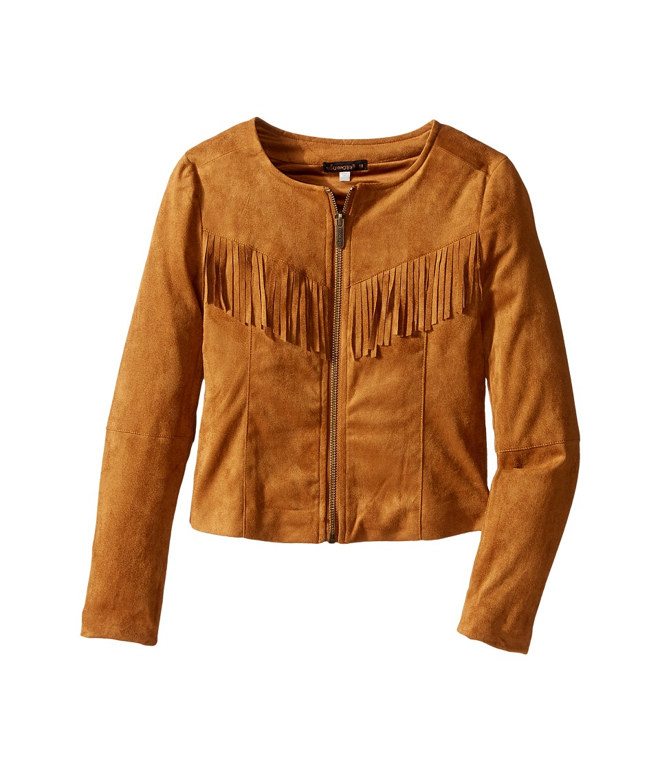Ella Moss Girl - Cali Suede Fringe Jacket (Big Kids) (Light Brown) Girl's Coat