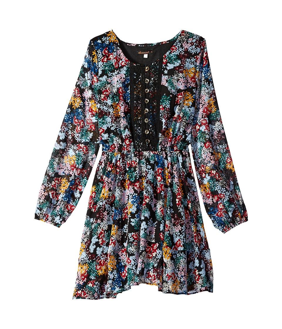 Ella Moss Girl - Flora Printed Peasant Dress (Big Kids) (Print) Girl's Dress