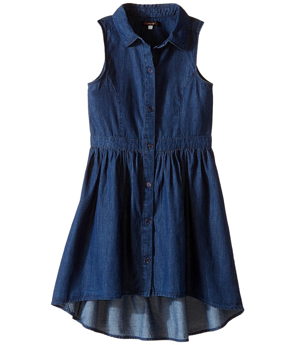 Ella Moss Girl - Amy Fit and Flare Shirtdress (Big Kids) (Dark Stone) Girl's Dress