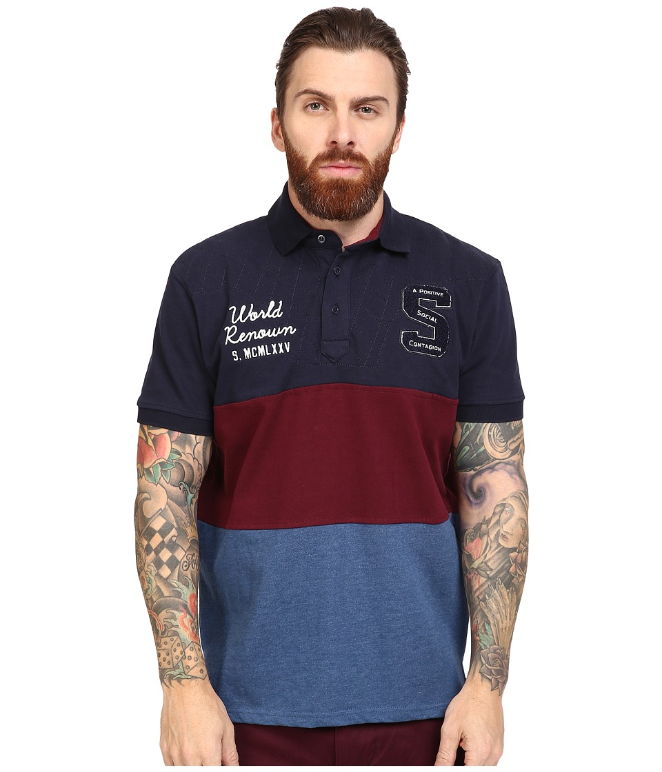 Staple - Academy Polo (Indigo) Men's Clothing
