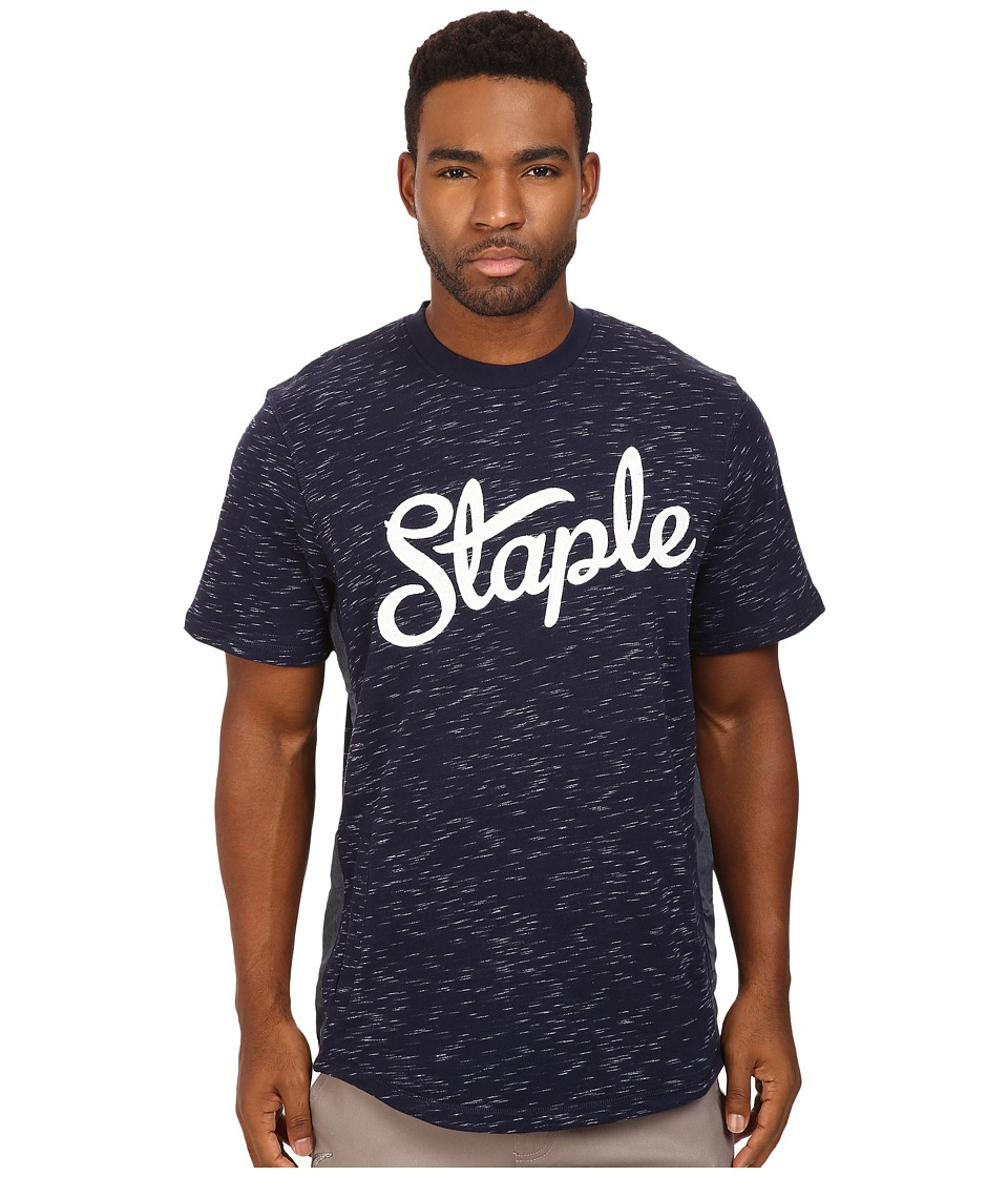 Staple - Indigo Logo Crew Neck (Navy) Men's Clothing