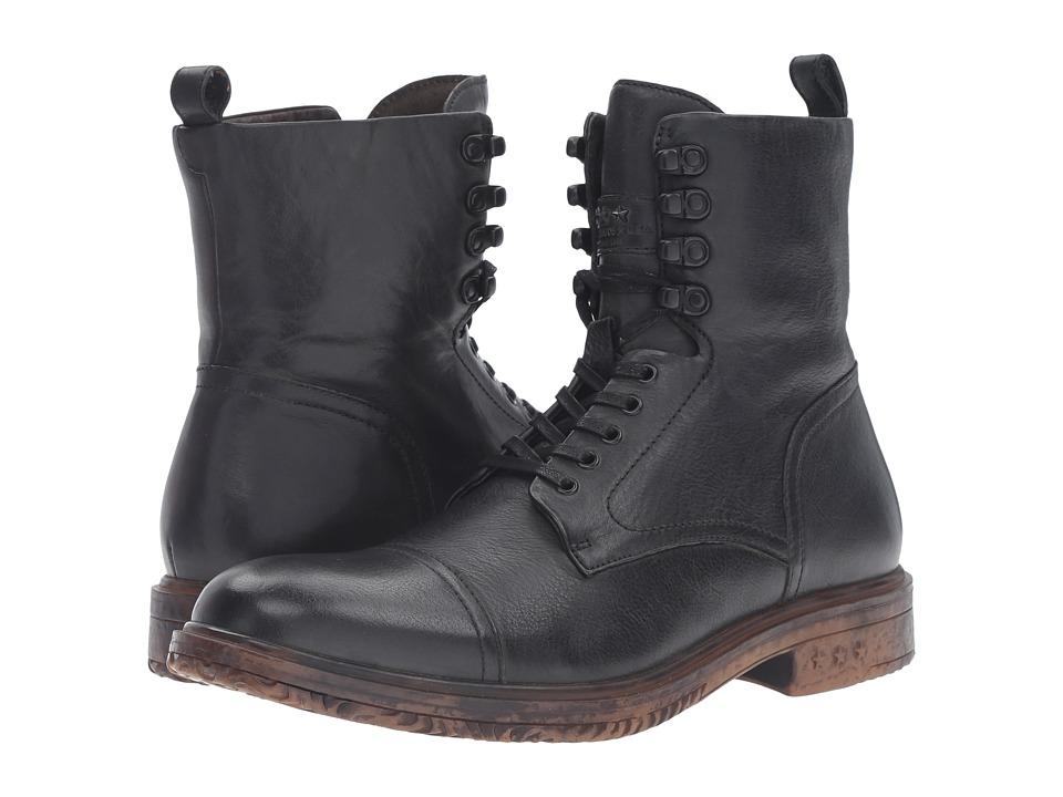 John Varvatos Harden Lace Boot (Mineral Black) Men
