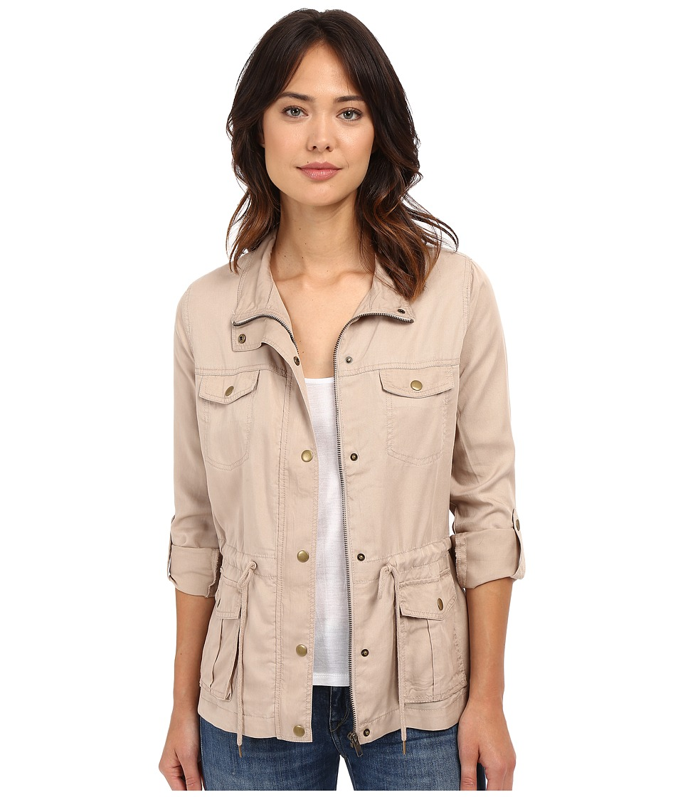 KUT from the Kloth - Emily Cargo Pocket Jacket (Khaki) Women's Coat