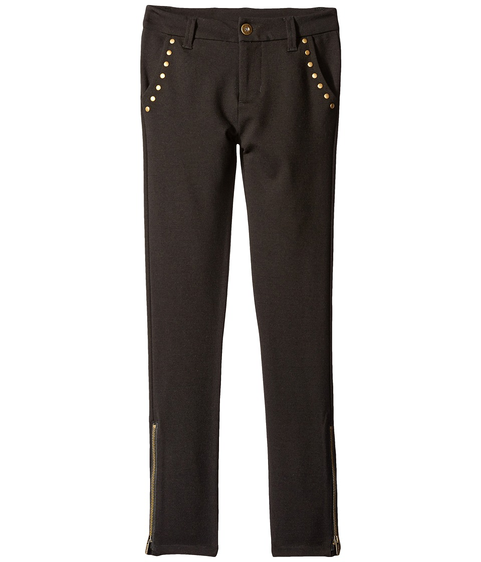 Ella Moss Girl - Bobbie Skinny Pants with Studs (Big Kids) (Black) Girl's Casual Pants