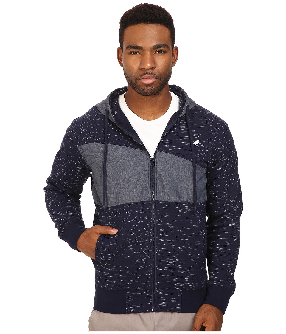 Staple - Indigo Zip Hoodie (Navy) Men's Sweatshirt