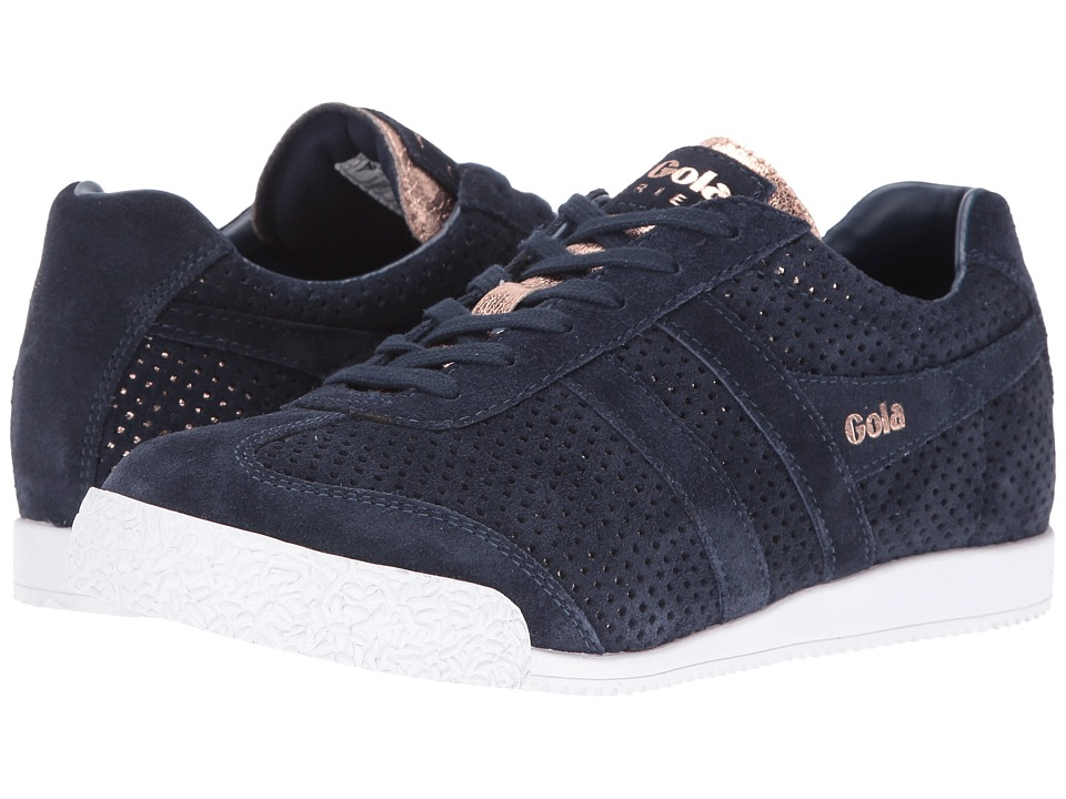 Gola - Harrier Glimmer Suede (Navy/Rose Gold) Women's Shoes