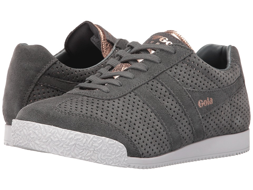 Gola - Harrier Glimmer Suede (Grey/Rose Gold) Women's Shoes