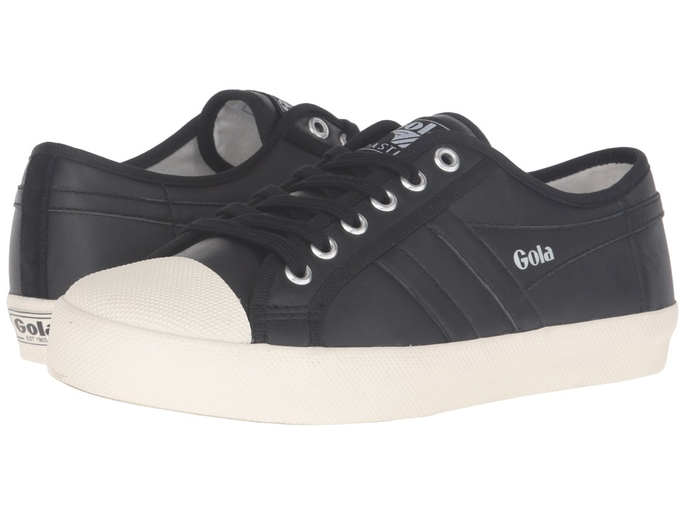 Gola - Coaster Leather (Black/Off-White) Women's Shoes
