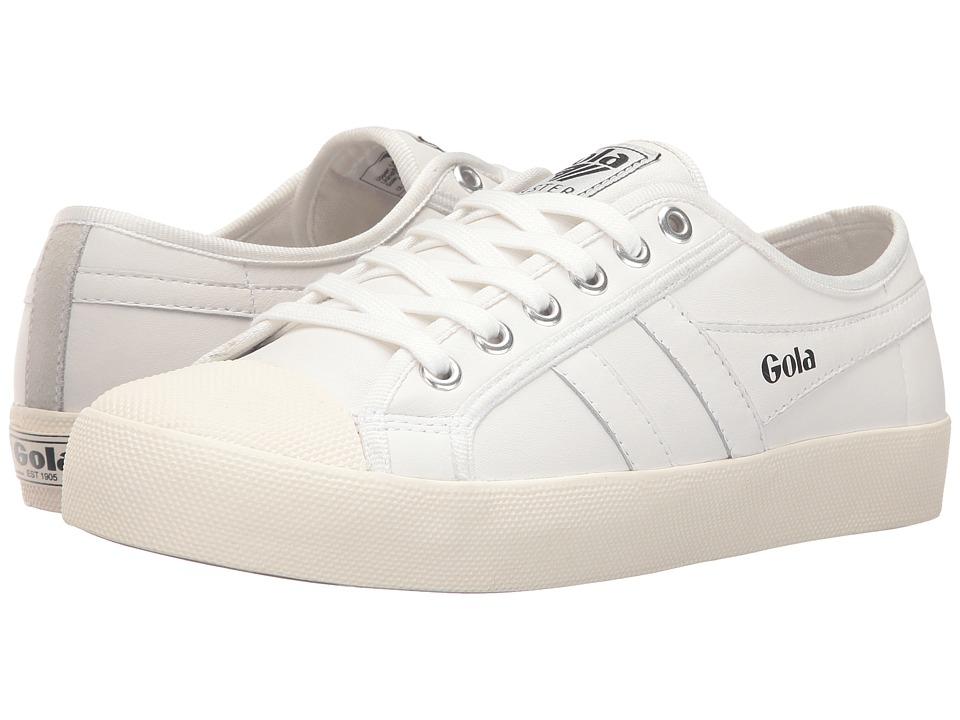 Gola - Coaster Leather (White/Off-White) Women's Shoes