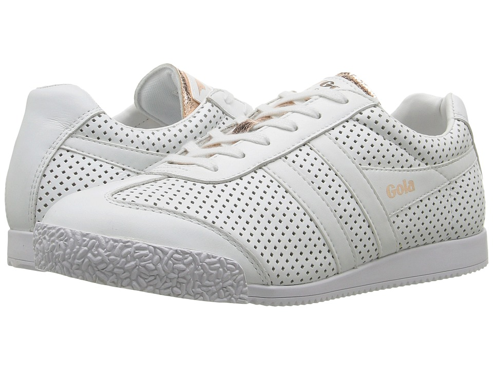 Gola Harrier Glimmer Leather (White/Rose Gold) Women