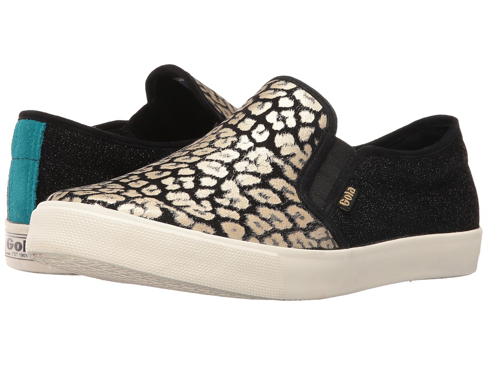 Gola - Orchid Safari Slip (Black/Gold/Leopard) Women's Shoes