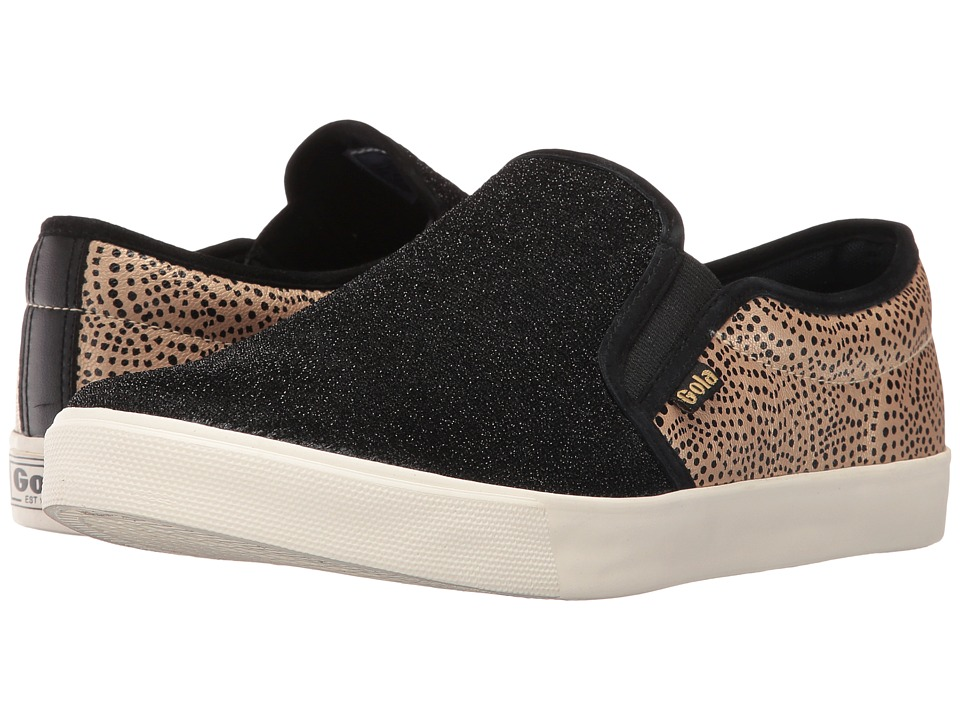Gola Orchid Safari Slip (Black/Gold/Dot) Women