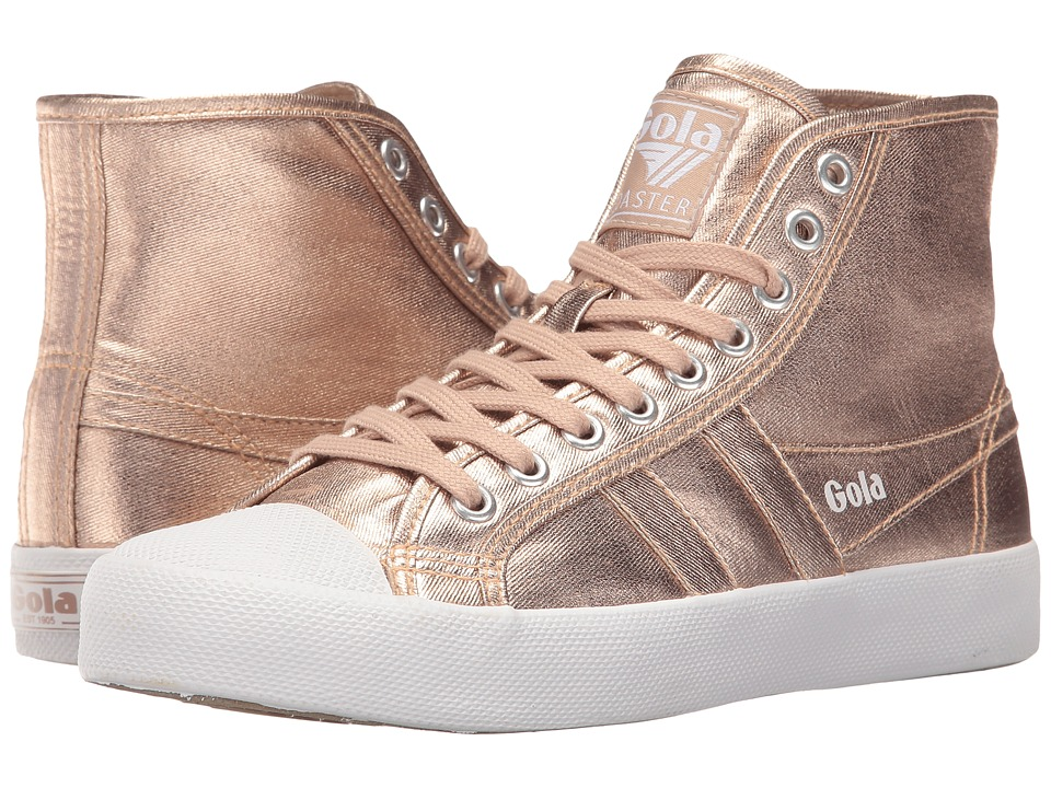 Gola Coaster High Metallic (Rose Gold/Rose Gold) Women