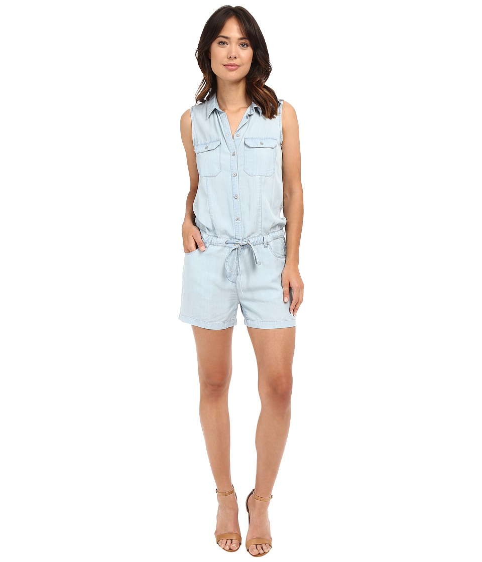 KUT from the Kloth - Valentina Sleeveless Shirt Romper (Light Blue) Women's Jumpsuit & Rompers One Piece