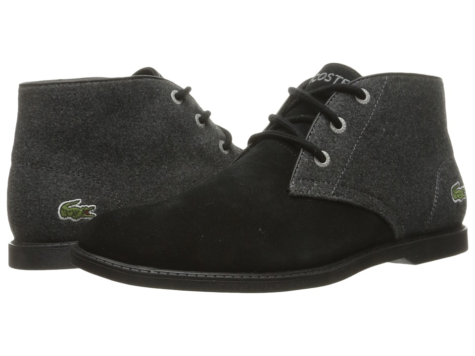 Lacoste Kids - Sherbrook 416 1 (Little Kid/Big Kid) (Black/Dark Grey) Boy's Shoes