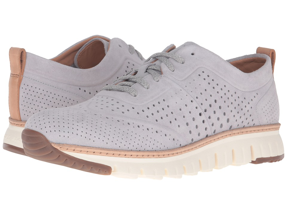 Cole Haan Zerogrand Laser Perf Sneaker (Silver Sconce Suede/Ivory) Men
