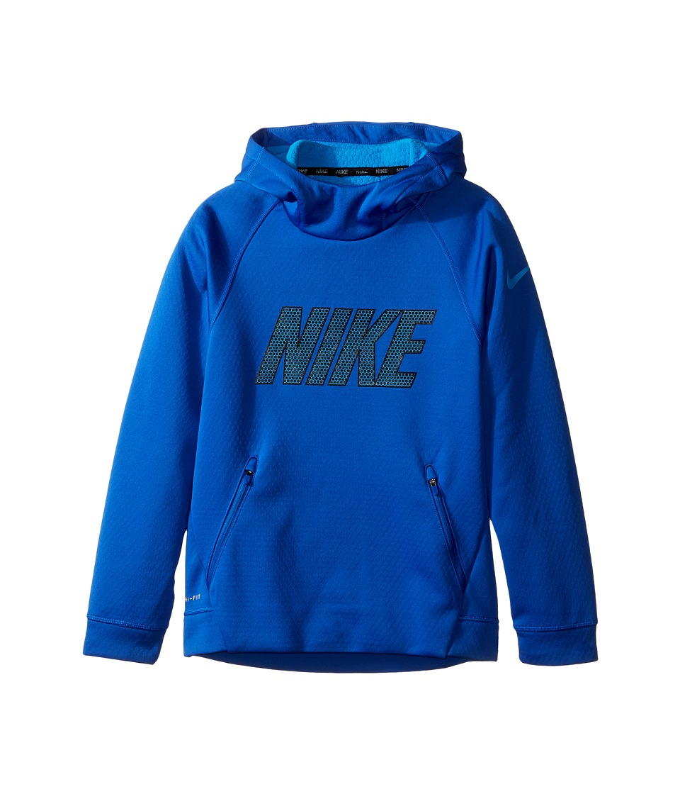 Nike Kids - Therma Sphere Hoodie (Little Kids/Big Kids) (Game Royal/Light Photo Blue/Light Photo Blue) Boy's Sweatshirt