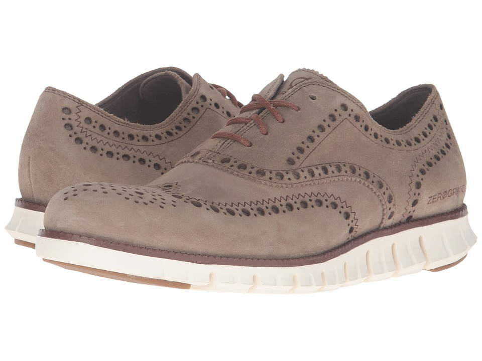 Cole Haan - Zerogrand Wing Oxford (Desert Taupe Suede/Ivory) Men's Lace up casual Shoes